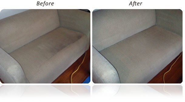 Upholstery Cleaning Before and After Beveridge