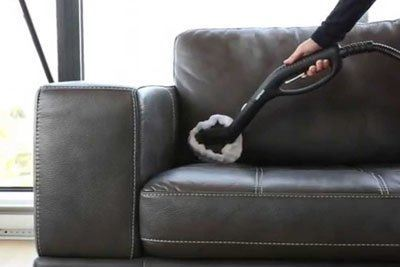 Leather Couch Cleaning & Protection Maroon