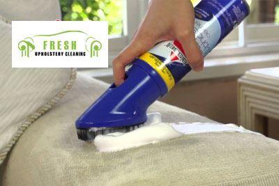 Shampoo the upholstery