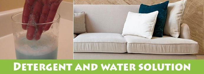 Detergent And Water Solution Stains Remove From Upholstery