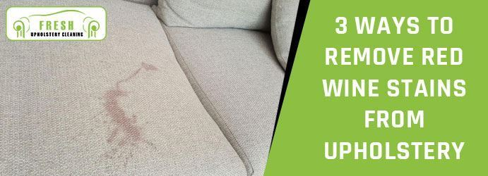 Remove Red Wine Stains From Upholstery